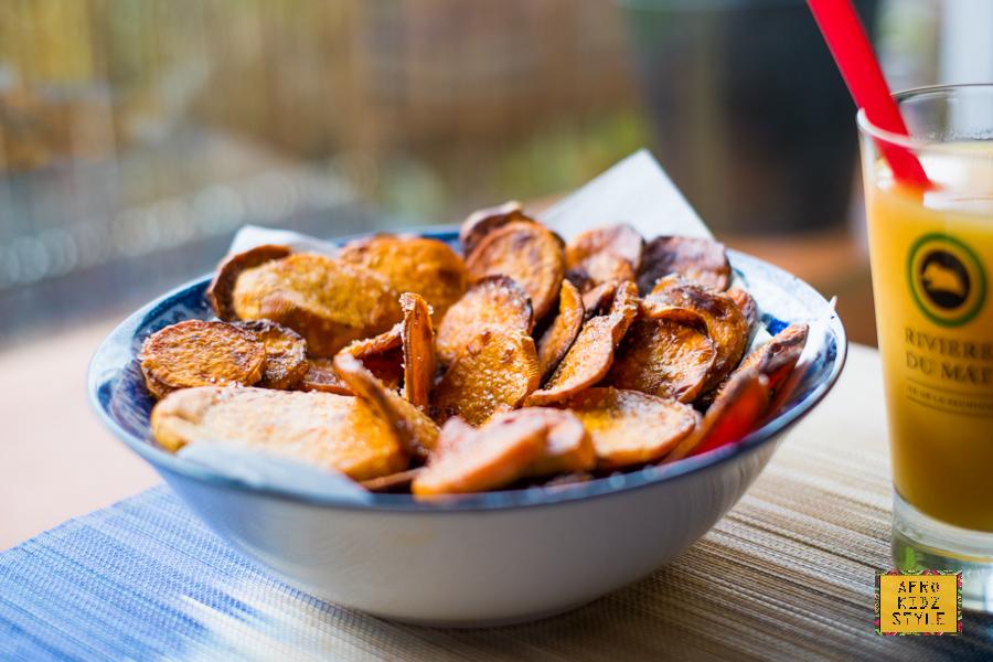 chips de patates douces sucrées