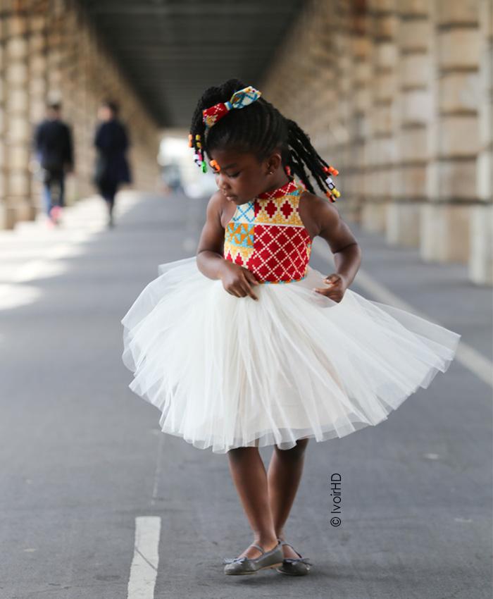 Mademoiselle Blé robe wax tutu